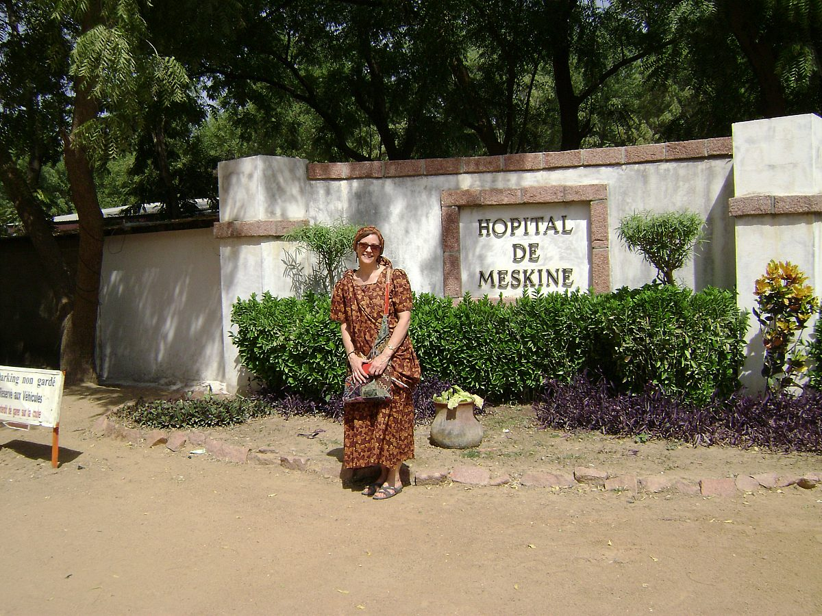 Cheryl in Cameroon at Hopital de Meskine