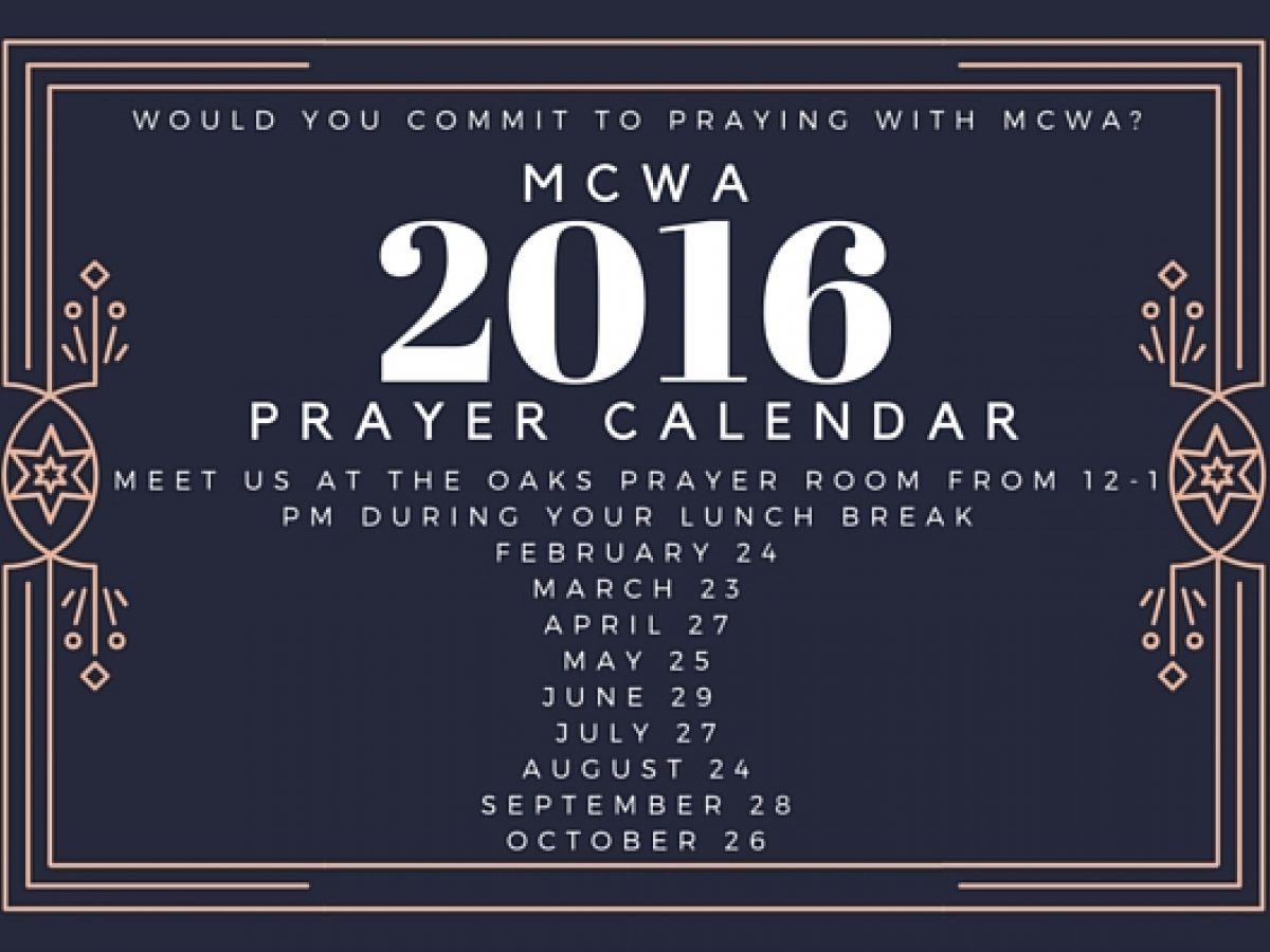 Pray With MCWA